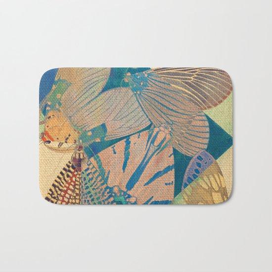 Triangle of Butterflies Bath Mat