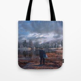 The coming of the dawn Tote Bag