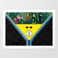 gravity falls Art Prints featuring Gravity Falls by itspronouncedDEE-ANN-UH