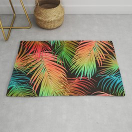 Colorful Palm Leaves 2 Rug