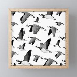 Barnacle goose pattern Framed Mini Art Print