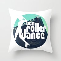 logo Throw Pillows featuring Logo by BCN Roller Dance