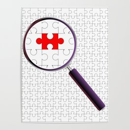 Odd Piece Magnifying Glass Poster