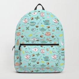 Vintage Pastel Teacups Tea Party Pattern Backpack
