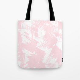 Blush pink white modern watercolor brushstrokes Tote Bag