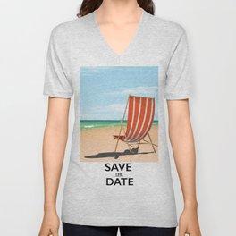 Save the Date Unisex V-Neck