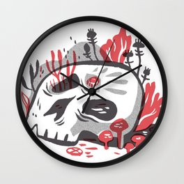 Skill and Mushroom Wall Clock
