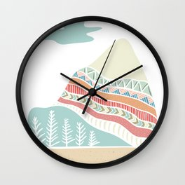 Winter Blush Wall Clock