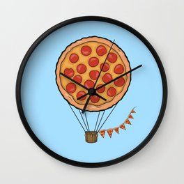 Pizza Hot Air Balloon Wall Clock