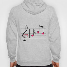 Music love concept Hoody
