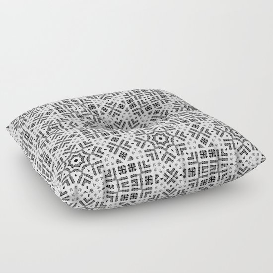 Black and white geometric pattern. 023 Floor Pillow by ArtDeco Society6