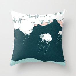 Where Do Good Sheep Go... Throw Pillow