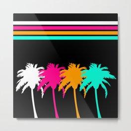 Neon Palm Trees Metal Print