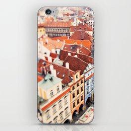 Red Roof Prague iPhone Skin