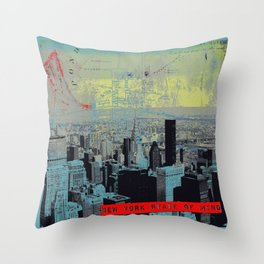 NYState of Mind Rockville Center Throw Pillow