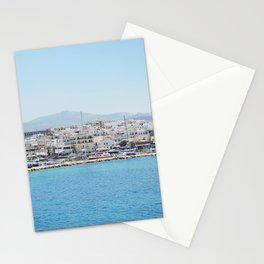 Naxos by boat Stationery Cards
