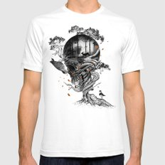 Lost Translation MEDIUM White Mens Fitted Tee