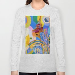 Air, Iron, and Water (Eiffel Tower) by Robert Delaunay Long Sleeve T-shirt