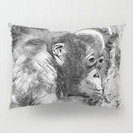 AnimalArtBW_OrangUtan_20170907_by_JAMColorsSpecial Pillow Sham