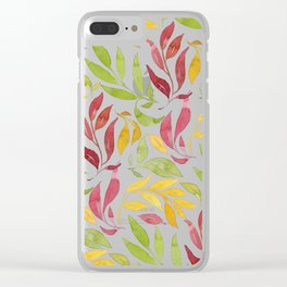 Loose Leaves - warm colors Clear iPhone Case
