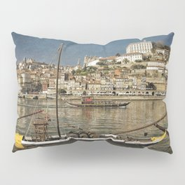 Moody Porto barges on the Douro Pillow Sham
