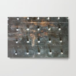 ancient wood and metal doors 2 Metal Print