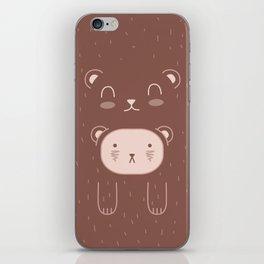 WILD + BEAR print iPhone Skin