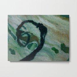 Green marble wool Metal Print