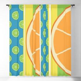 Summer Citrus Party Blackout Curtain