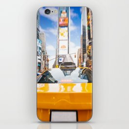 Taxi in Times Square, New York. iPhone Skin