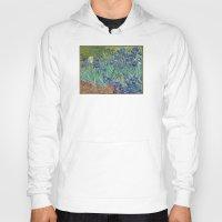 van gogh Hoodies featuring Vincent van Gogh - Irises by Elegant Chaos Gallery
