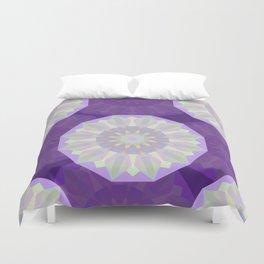 Round Iridescent Geometric Background Duvet Cover