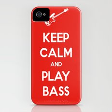 Keep Calm and Play Bass iPhone (4, 4s) Slim Case