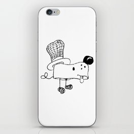 Hat dog iPhone Skin