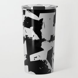 Distant Memories - Abstract Painting In Black And White Travel Mug