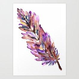Covered (Purple) Art Print