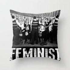 Fear Of A Feminist Planet Throw Pillow