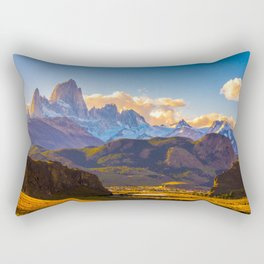 Monte Fitz Roy in the Argentine Patagonia Photo Rectangular Pillow