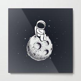 Sit Astronaut Metal Print