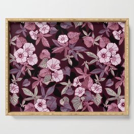 Sweet Potato Pattern / Burgundy Serving Tray
