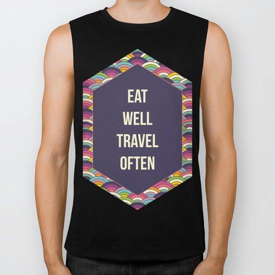 Eat Well Trravel Often Biker Tank