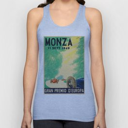 Grand Prix Monza, 1949, Gran Premio Monza, vintage poster Unisex Tank Top