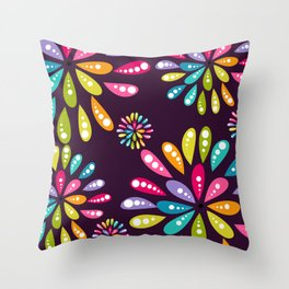 Mum Pop Plum Throw Pillow