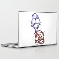 ying yang Laptop & iPad Skins featuring Ying & Yang by Nerve