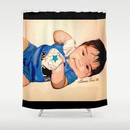 Baby Portrait Shower Curtain