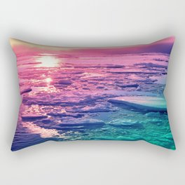 Pastel Sunset Waters Rectangular Pillow