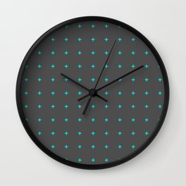 plus sign pattern Wall Clock