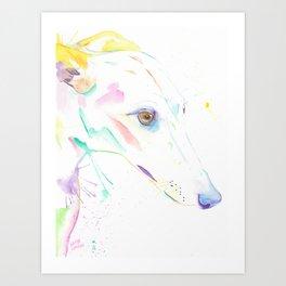 ROCO (The Brindle Greyhound) Art Print