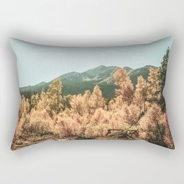 Rustic Autumn Beauty // Golden Yellow and Orange Leaves in the Forest Rectangular Pillow
