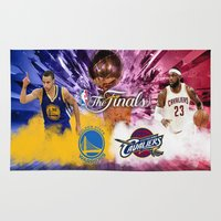 basketball Area & Throw Rugs featuring Basketball  by RickART